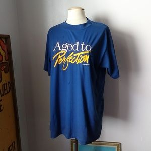 """Vintage """"Aged to Perfection"""" novelty t-shirt"""